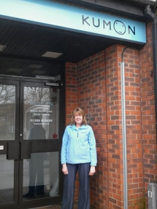 Elaine Plumb outside the new centre in Colchester