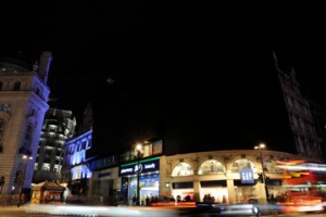 Lights go out at Piccadilly's Coca-Cola sign during Earth Hour