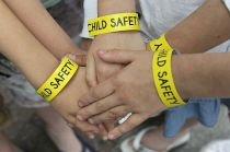 Southend Child Safety Scheme wristbands in action r