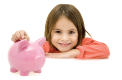 Piggy-bank-and-girl